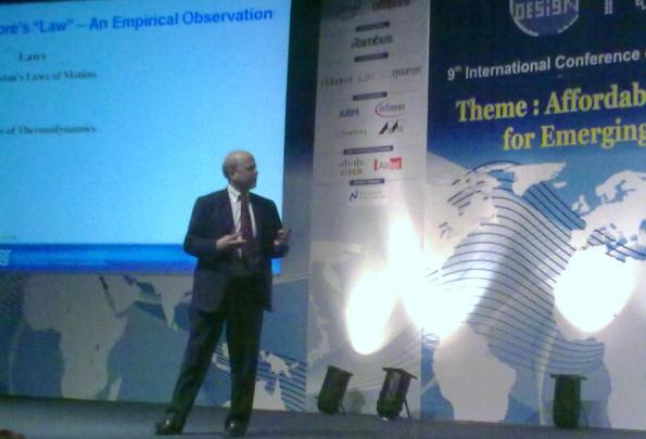 Dr. Walden C. Rhines, CEO, Mentor Graphics, during his keynote at VLSID 2010, Bangalore, India.