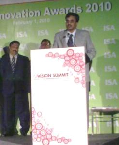 Dr. Shanti Pavan, Indian Institute of Technology, Madras, and winner of ISA TechnoMentor Award 2010.