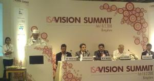 Hon'ble IT and BT Minister, Karnataka, Katta Subramanya Naidu at the ISA Vision Summit 2010.