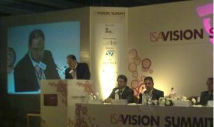 Richard Hyde, British deputy high commissioner, delivering his address at ISA Vision Summit 2010 in Bangalore, India.