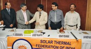 Solar Thermal Federation of India launch in New Delhi, India.