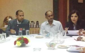 L-R: Keshav S. Dhakad, Chair, India Committee 2010, BSA, Dr. D.S. Ravindran, CEO, Centre of e-Governance, Government of Karnataka, and Lizum Mishra, director, India, BSA.