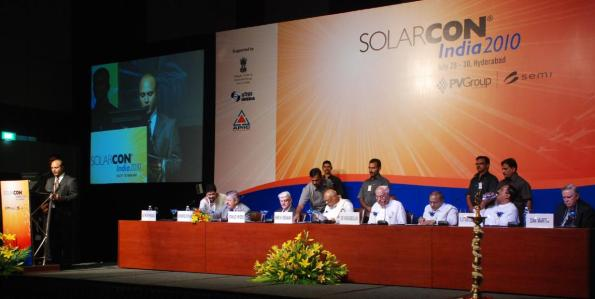 A view of the inaugural function of Solarcon India 2010 @ Hyderabad.