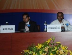 Lanco Solar's Alok Nigam at Solarcon India 2010.