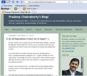 Pradeep Chakraborty's Blog