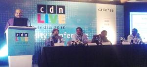 Panel discussion on industry-academia collaboration in VLSI education.