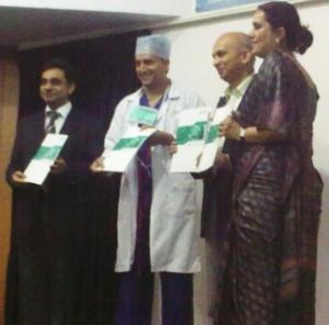 L-R: Vivek Sharma, Dr. Devi Shetty, Dr. Bobby Mitra and Poornima Shenoy.