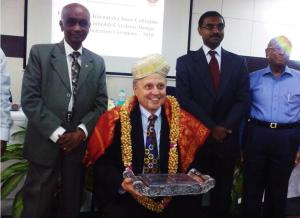 Dr. Wally Rhines flanked by Dr. Setty and Venkatesh Prasad.