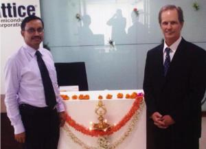 Lattice India GM, Sidhartha Mohanty and Lattice president and CEO, Darin G. Billerbeck at the opening of the India office.