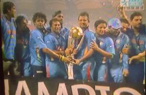 India win the World Cup of Cricket, 2011!