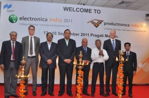 electronica/productronica 2011 opens in Delhi.