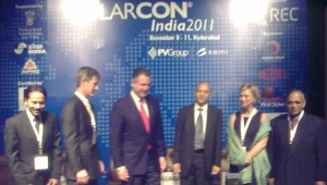 Solarcon India 2011 opens in Hyderabad, India.