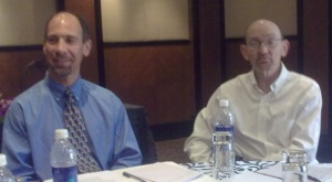 (L-R): Xilinx's Dave Tokic and Lawrence Getman.