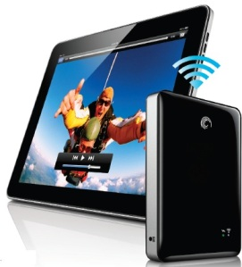 Seagate GoFlex Satellite mobile wireless storage device.